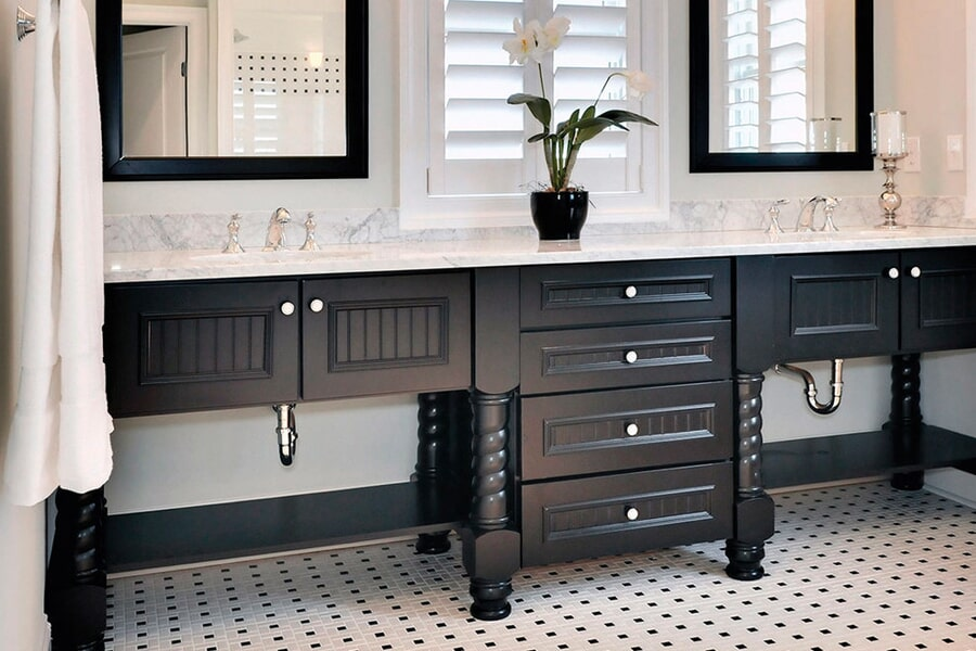 Bath remodeling in Huntersville, NC from LITTLE Wood Flooring & Cabinetry