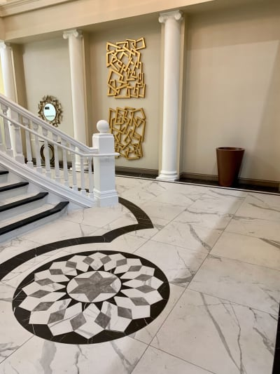 Gorgeous marble tile installation in Henderson, NV from GoPro Interiors