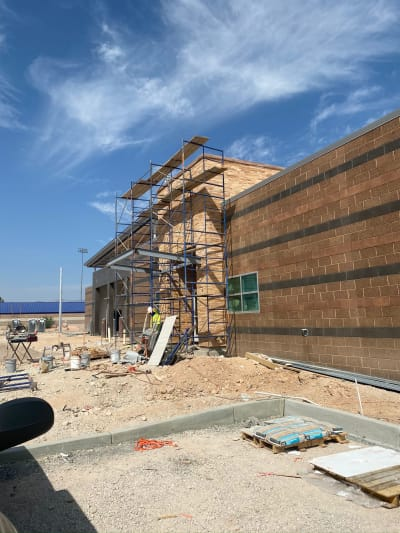 Commercial stone siding in Las Vegas, NV from GoPro Interiors