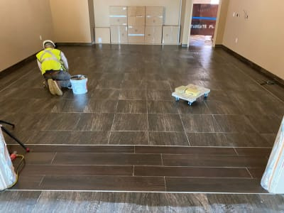 Commercial tile installation in Las Vegas, NV from GoPro Interiors