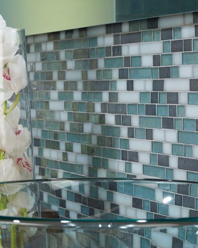 Glass tile flooring in Eufaula, AL from Carpetland USA