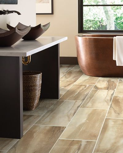 Luxury vinyl flooring in