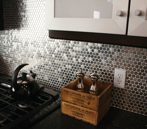 Modern metal tile accents in Orland Park, IL from Sherlock's Carpet & Tile