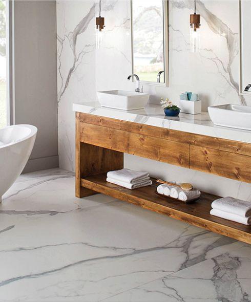 Ceramic tile flooring in Burbank, CA from DW Interiors