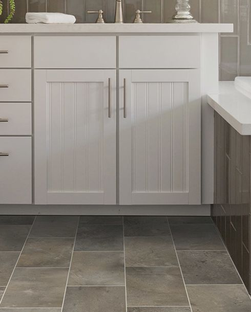 Durable bathroom Luxury vinyl in Purcellville VA from Loudoun Valley Floors