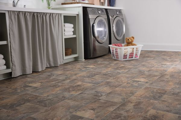 Luxury vinyl tile floor in Camas WA from All About Floors NW