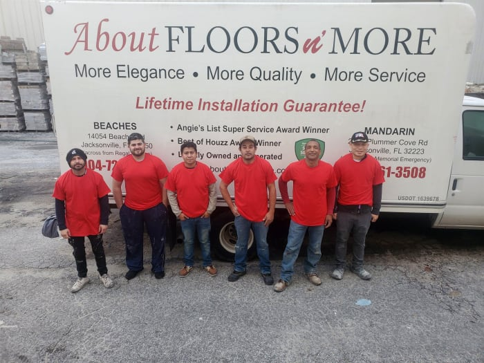 Our installation team at About Floors n' More