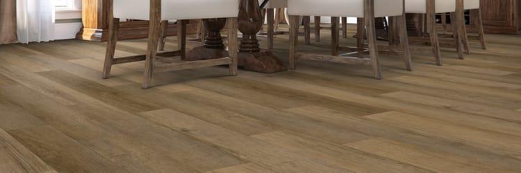 Hard surface flooring installation in a Chesapeake, VA dining room