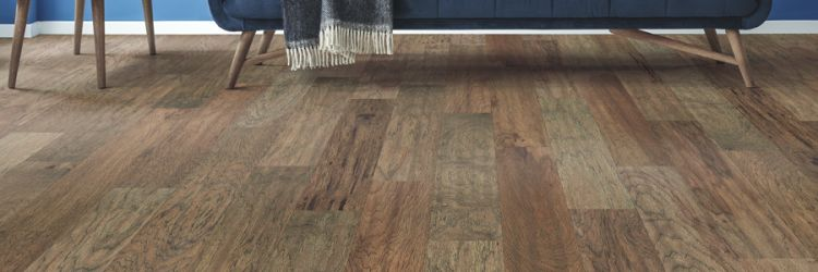 Vinyl plank flooring installation in an Acworth, GA living room