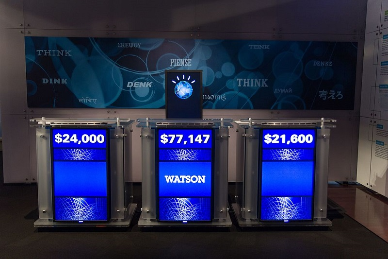 Watson, Artificial Intelligence developed by IBM, won him the Jeopardy.