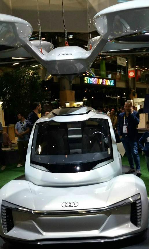 Pop.Up, le concept de voiture volante présenté par Airbus et Audi lors du salon VivaTech. (City.forecasting.ai)