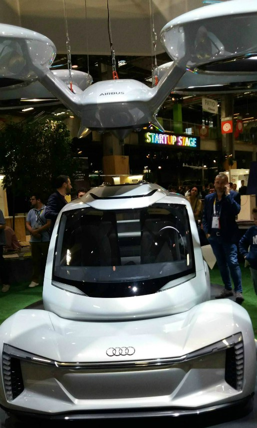 Pop Up, the flying car concept presented by Airbus and Audi at VivaTech. (City.forecasting.ai)