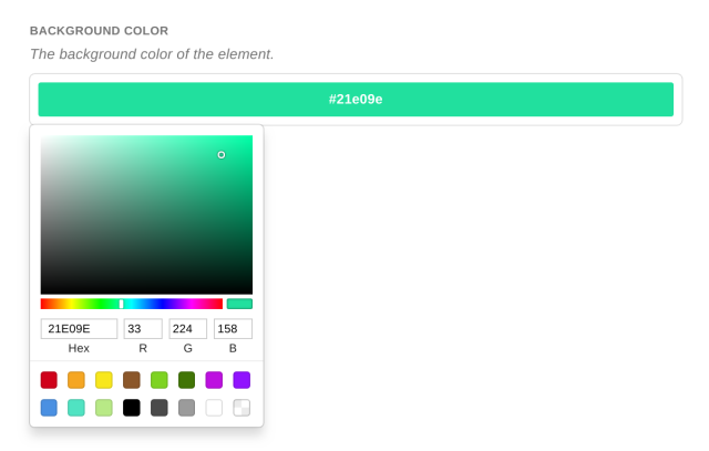 Color Picker field UI