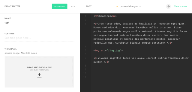 HTML File Contents are Moving to Plaintext Editor | Forestry io