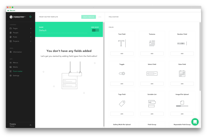 Front Matter template creation