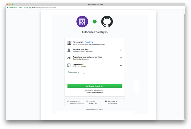 GitHub Pages | Forestry io