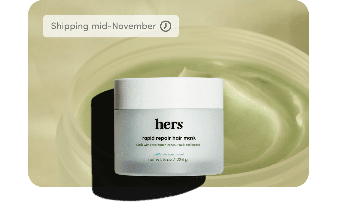 hers hair mask product container
