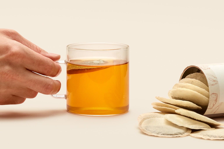 The Calming Tea steeping