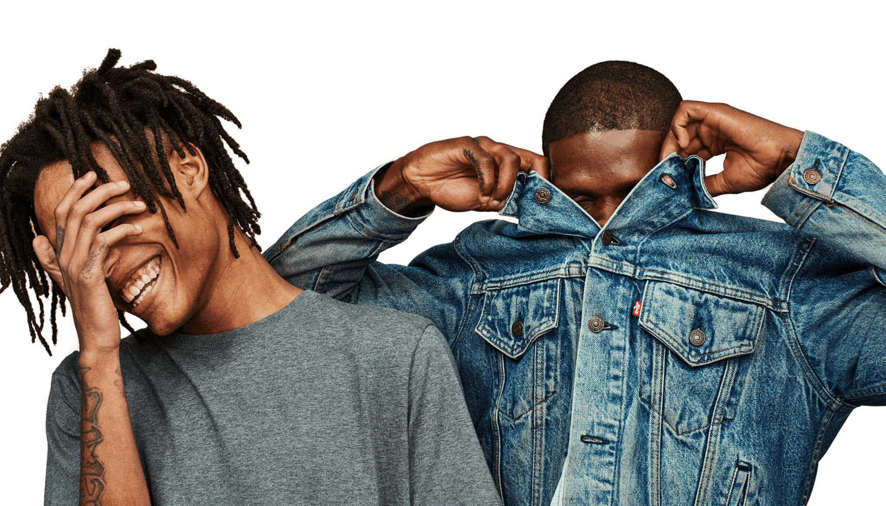 Young men with their faces obscured