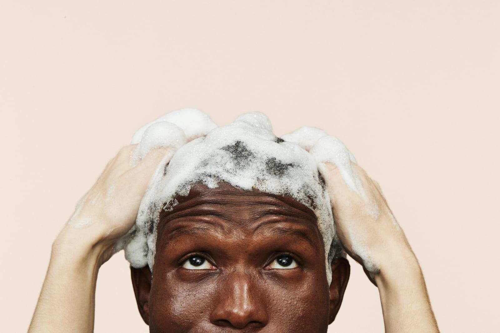 man being shampooed