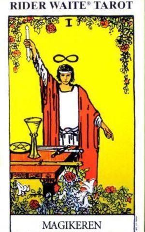 Rider Waite tarot. Tarotkort. 1 veiledningshefte