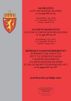 Aksjeloven ; Allmennaksjeloven : (lov om allmennaksjeselskaper) av 13. juni 1997 nr.45 : med endringer, sist ved lov av 14. desember 2018 nr. 95 (i kraft 1. mars 2019) ; Representasjonsforskriften : (forskrift om ansattes rett til representasjon i aksjeselskapers og allmennaksjeselskapers styre og bedriftsforsamling m.v.) av 24. august 2017 nr. 1277