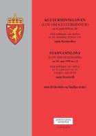 Kulturminneloven ; Stadnamnloven : (lov om stadnamn) av 18. mai 1990 nr. 11 : med endringer, sist ved lov av 21. juni 2019 nr. 59 (i kraft 1. juli 2019) : samt forskrift