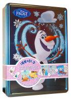 Frost Olaf. Disney tinnboks. 3 bøker. 4 tusjer. 1 plakat. 50 klistremerker