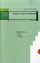 Master's degree handbook