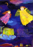 Jesus, du er glad i meg. Tekst av Eyvind Skeie. 4-fargers plakat i A4-størrelse med kveldsbønn for barn