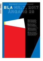 BLA - Bokvennen litterær avis. Nr. 7 2017