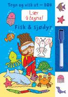 Fisk & sjødyr. Tegn og visk ut-bok