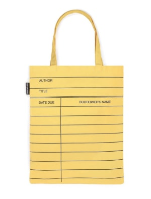 Library Card yellow tote bag