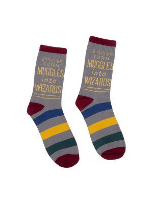 Books Turn Muggles into Wizards socks