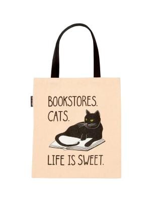 Bookstore Cats tote bag
