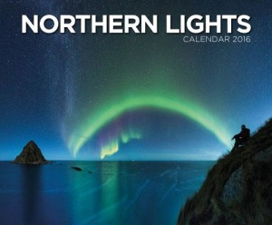 Northern lights. Calendar 2016