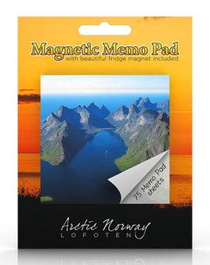 Lofoten. Magnetisk memoblokk. Arctic Norway Lofoten