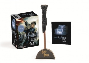Harry Potter wizard's wand with sticker book. Lights up!