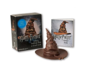 Harry Potter talking sorting hat and sticker book. Which house are you?