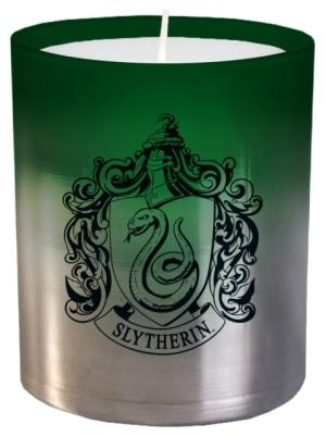 Harry Potter. Slytherin large glass candle