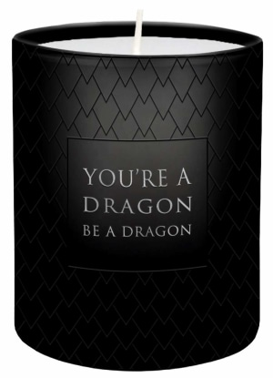 Game of Thrones. Be a dragon glass votive candle