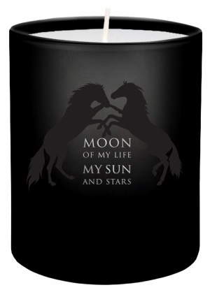 Game of Thrones. Moon of my life glass votive candle