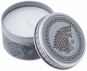 Game of Thrones. House Stark scented candle. Small, mint