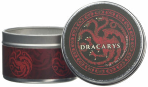 Game of Thrones. House Targaryen scented candle. Small, clove