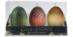 Game of Thrones. Sculpted dragon egg candles. Set of 3