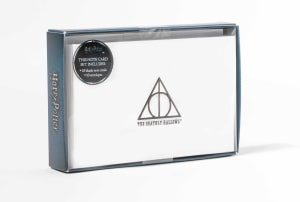 Harry Potter. Deathly Hallows foil bote cards. 10 blank cards and 10 envelopes