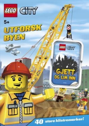 Lego city. Utforsk byen. Gjett og lim inn. 1 hefte. 40 klistremerker
