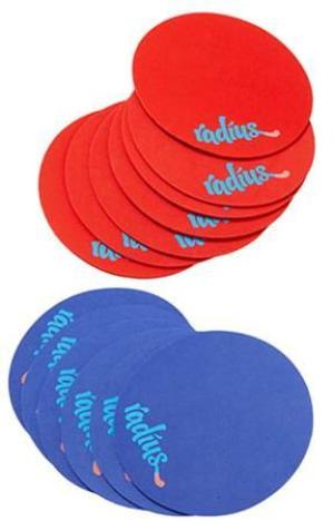 Radius. Perlesnor til bruk på gulv