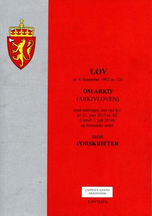 Lov om arkiv (arkivloven) av 4. desember 1992 nr. 126