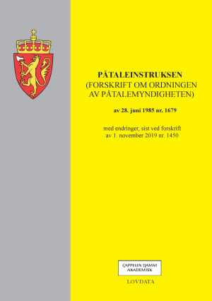Påtaleinstruksen (forskrift om ordningen av påtalemyndigheten) av 28. juni 1985 nr. 1679